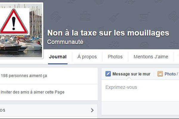 Une page Facebook avait été créée pour s'opposer à la taxe mouillage.