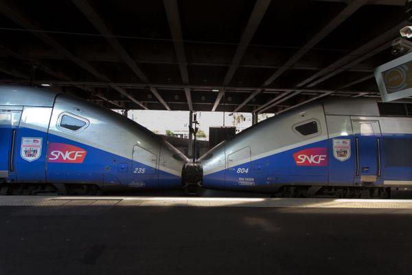Train à l'arrêt en gare de Cannes : cette nouvelle ligne doit permettre de désengorger le trafic ferroviaire.
