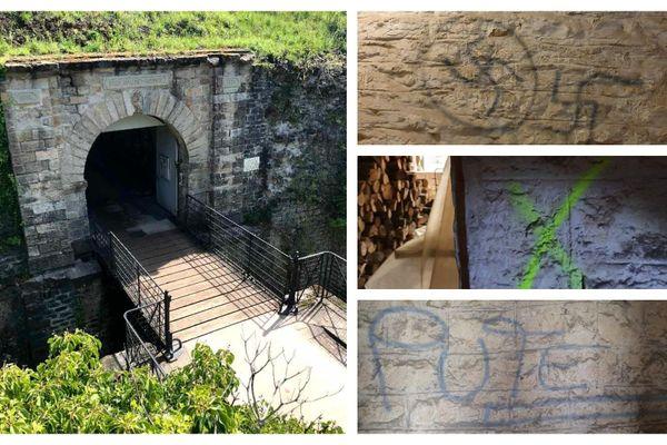 Des individus se sont introduits dans l'enceinte du fort pour le vandaliser et inscrire trois croix gammées