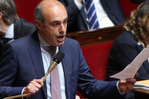 Olivier Marleix lors des questions au gouvernement, à l'Assemblée nationale, en mai 2019.