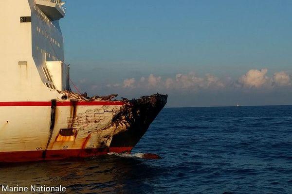 Le navire tunisien Ulysse s'est libéré du porte-containers Virginia.