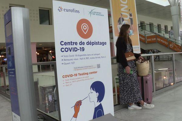 Un centre de dépistage anti covid ouvert à l'aéroport de Bordeaux-Mérignac depuis le 26 juillet 21.