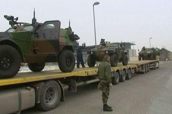 """Les """"Bisons"""" du 126ème RI de Brive au moment de leur départ pour le Mali ( janvier 2013)"""