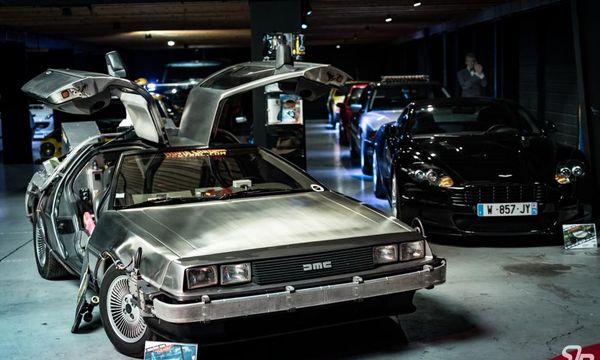 "La Delorean, voiture iconique de la saga ""Retour vers le futur""."