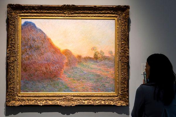 Ces meules flamboyantes au crépuscule ont été adjugées 110 millions à la vente Sotheby's à New York