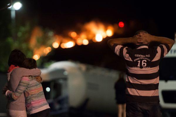 Le feu touche durement la commune de Vitrolles