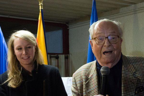 Marion Maréchal Le Pen et son grand-père, Jean-Marie Le Pen.