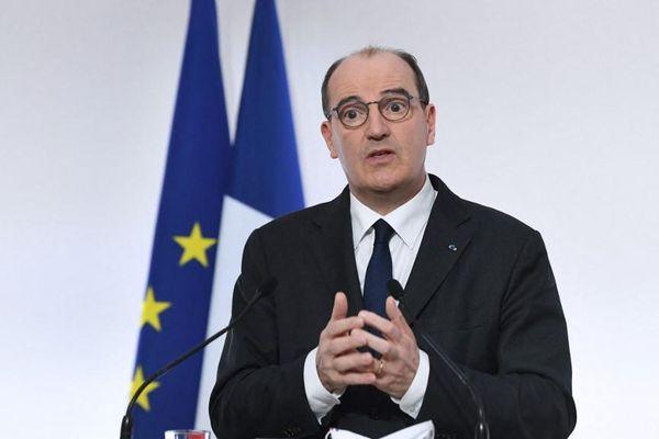 Jean Castex pendant sa conférence de presse du 4 mars  − ALAIN JOCARD / POOL / AFP