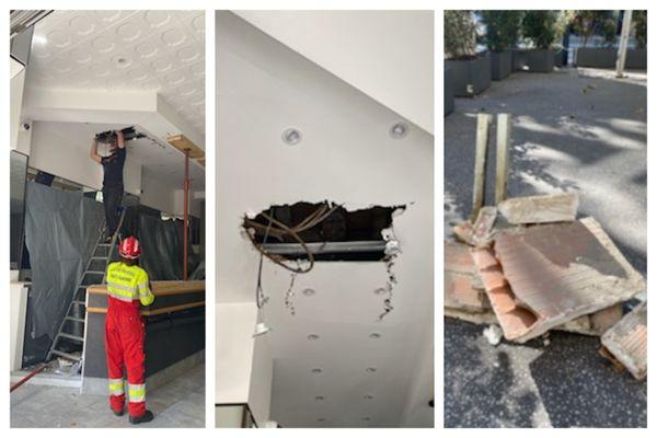 Les pompiers sont intervenus jeudi 14 octobre dans un restaurant toulousain, dont le plafond s'est effondré en plein service.