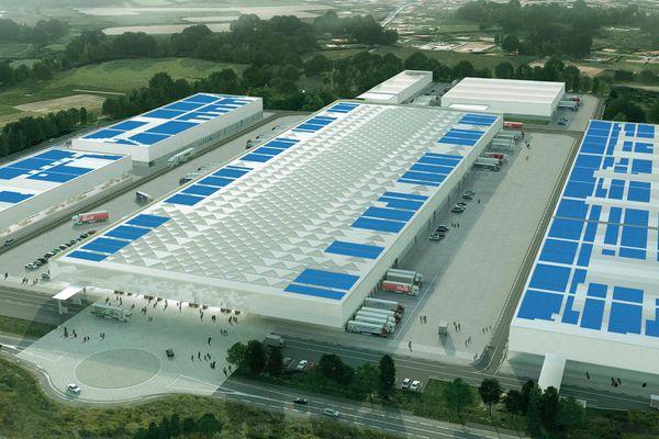 Le futur MIN de Nantes et sa centrale photovoltaïque