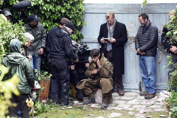 Christopher Nolan en tournage à Dunkerque en mai dernier.