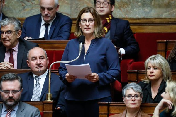 Perrine Goulet à l'Assemblée nationale, le 20 novembre 2018.