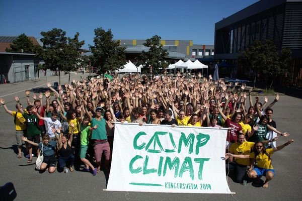 Le Camp Climat national a réuni en 2019 à Kingersheim (Alsace) plus de 1000 participants