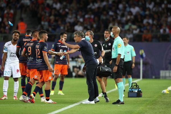 Le match Montpellier-Marseille de dimanche soir a dû être interrompu pendant 12 minutes à cause de jet de projectiles sur la pelouse.