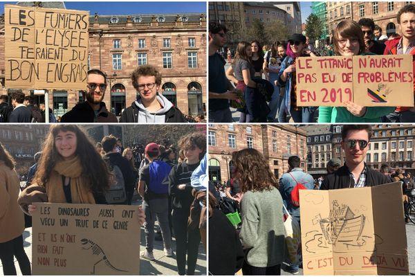 Les nombreuses pancartes dénonçaient la fonte des glaces jusqu'au manque d'implication du gouvernement pour la question climatique.