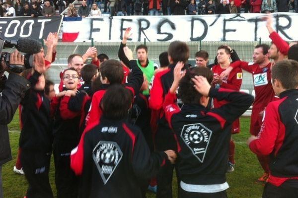 Ytrac, club de DHR, qualifié pour le 8ème tour de la coupe de France de football après sa victoire 1-0 sur Balma (CFA2)