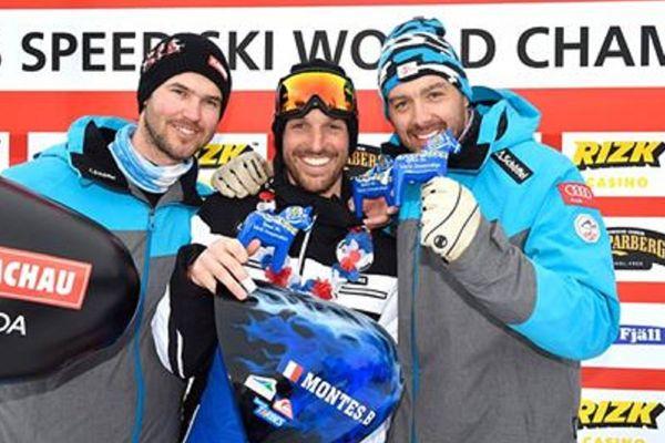 Bastien Montès a été sacré aux Championnats du Monde de ski de vitesse à Idre en Suède