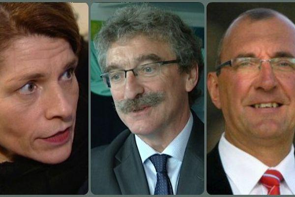 Isabelle Le Callennec (UMP) élue à Vitré (35) - Jean-Luc Chenut, chef de file du PS en Ille-et-Vilaine - Gilles Pennelle, chef de file du FN en Bretagne, éliminé sur Fougères 2