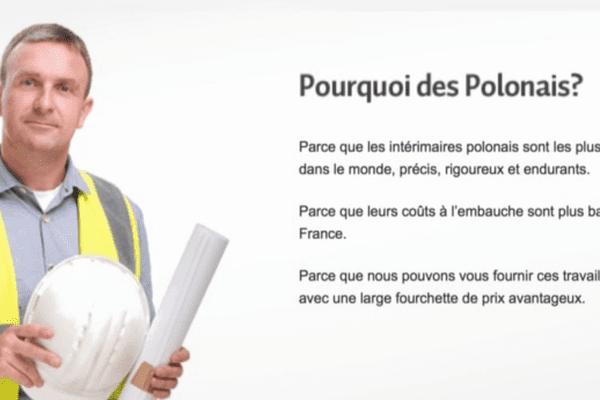"""Une publicité pour des travailleurs Polonais """"précis, rigoureux et endurants"""""""