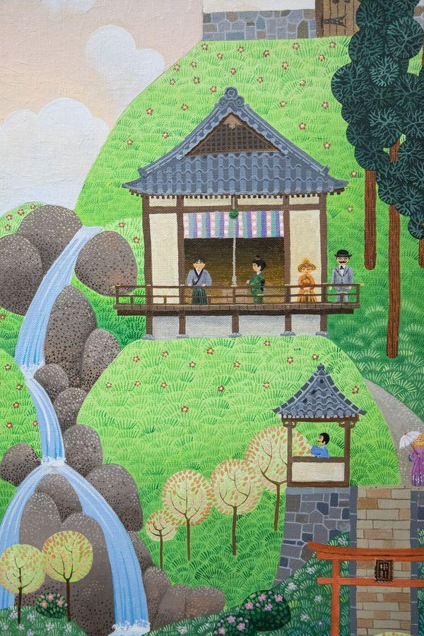 Peinture «Japon» de Sanaé Kushibiki et Jacky Quétard