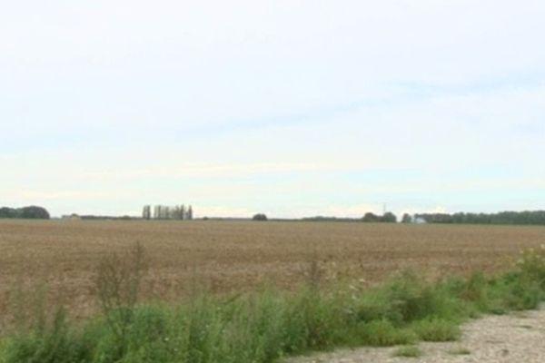 La ferme est prévu à cet emplacement, sur les communes de Bugny-St-Maclou et Drucat-le-Plessiel