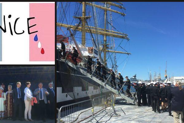Les marins russes, à l'honneur aujourd'hui aux fêtes maritimes, ont marqué également leur solidarité avec les victimes de l'attentat à Nice.