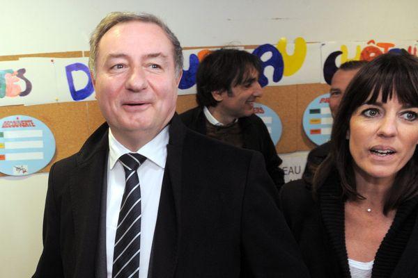 Jean-Luc Moudenc et sa suppléante à l'assemblée Laurence Arribagé