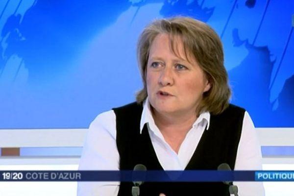 Cécile Dumas, tête de liste Front de gauche / EELV dans les Alpes-maritimes