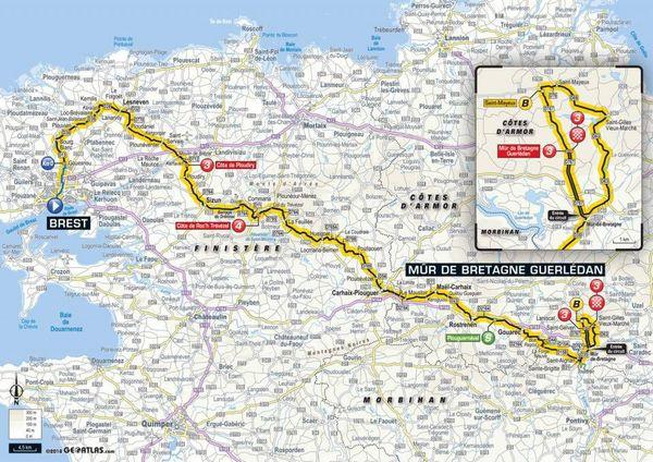 La carte de la 6e étape du Tour 2018