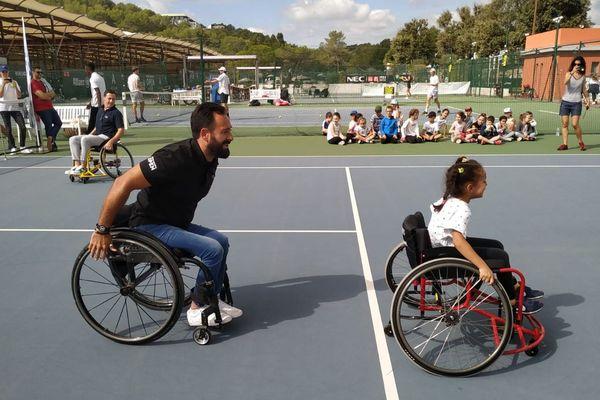 Tournoi de tennis-fauteuil à Sophia-Antipolis