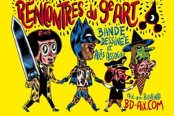 Création de Marco Toxico. A voir du 26 avril au 9 mai 2021 dans la ville d'Aix-en-Provence