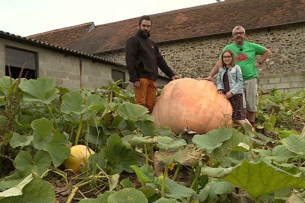 Difficile de récolter les cucurbitacées dans le jardin de Thierry Granson, à moins d'avoir mangé beaucoup de soupe à la citrouille ! / © France 3 Périgords - Vanessa Fize & Florian Rouliès
