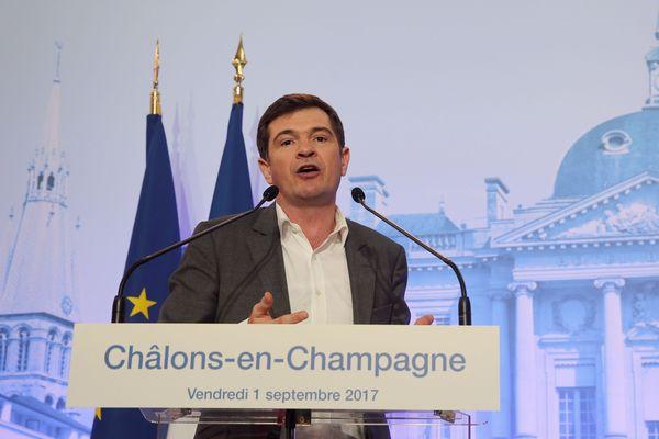 Benoist Apparu à Châlons-en-Champagne, le 1er septembre 2017.