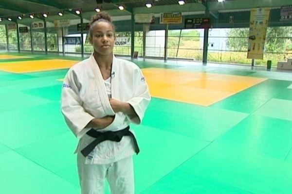 La judokate de Limoges Laury Posvite à l'entraînement, en août 2012.