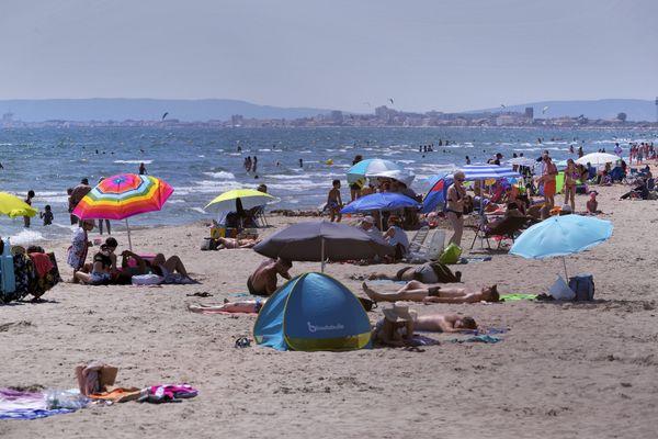La Grande-Motte (Hérault) - La fréquentation sur le littoral est en hausse de 20% par rapport à 2020 - 13.août 202.