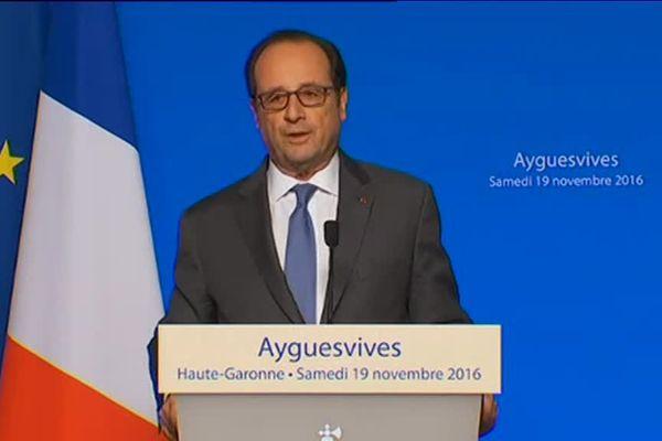 François Hollande a conclu sa visite en Haute-Garonne à Ayguesvives.
