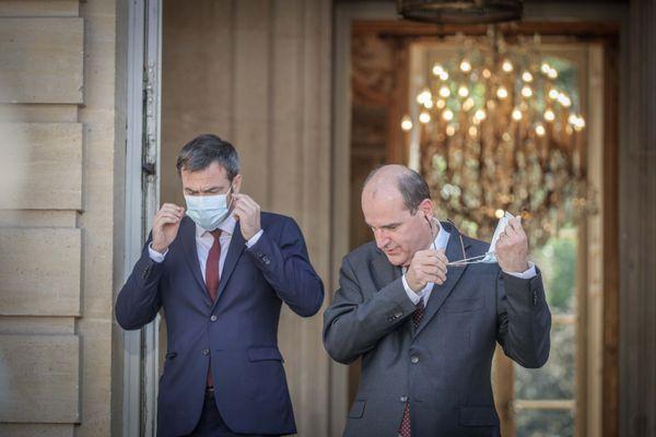 Signature des accords du Ségur de la santé à l Hotel Matignon en présence du premier Ministre, Jean Castex et du Ministre des Solidarités et de la Santé, Olivier Véran.