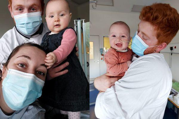 Atteintes de leucémie, Lou et Eléna, deux jumelles de 8 mois, sont hospitalisées à Clermont-Ferrand.