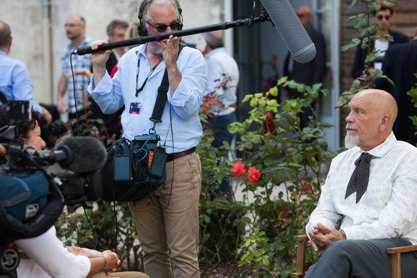 John Malkovich, président du jury 2017, en interview avec les journalistes de France 3 Poitou-Charentes I. Hirsch, M. Nadal et C. Rio
