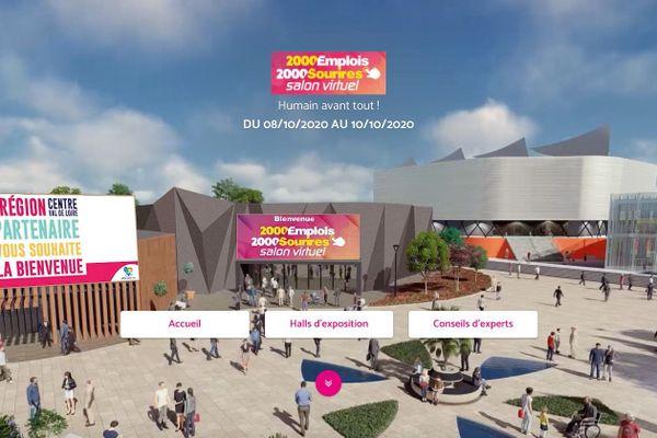 La page d'accueil du salon de l'emploi orléanais, devenu cette année 100% virtuel