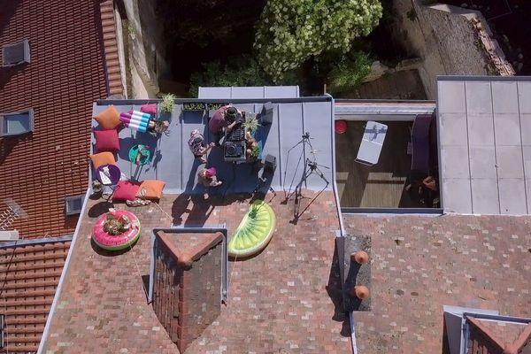 Besançon Rooftop Festival : festival bisontin filmé par un drone
