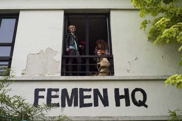 Les Femen ont inauguré leur QG à Clichy la Garenne, près de Paris.