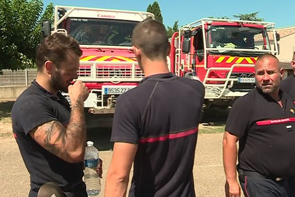 A Générac, les pompiers sont mis à rude épreuve avec les incendies.