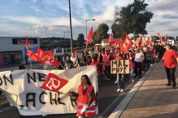 Les salariés de Labeyrie défilent à Saint-Geours-de-Maremme