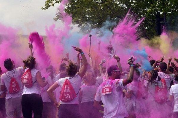En 2014, Color Me Rad à Toulouse avait lieu sur la base de loisirs de la Ramée