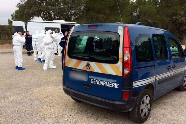 Les gendarmes vont ratisser la zone.