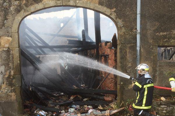 La maison incendiée à Vrécourt. Photo Mustafa Mohammad
