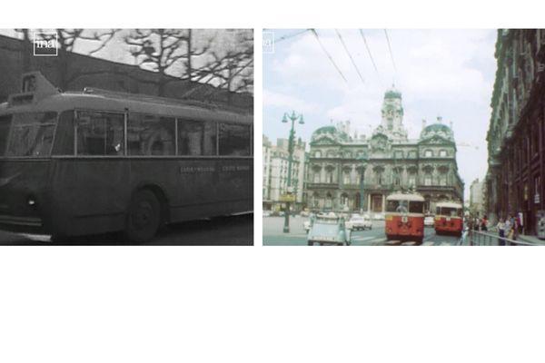 Crée en 1935, le réseau de trolleybus s'est élargi dans les années 70