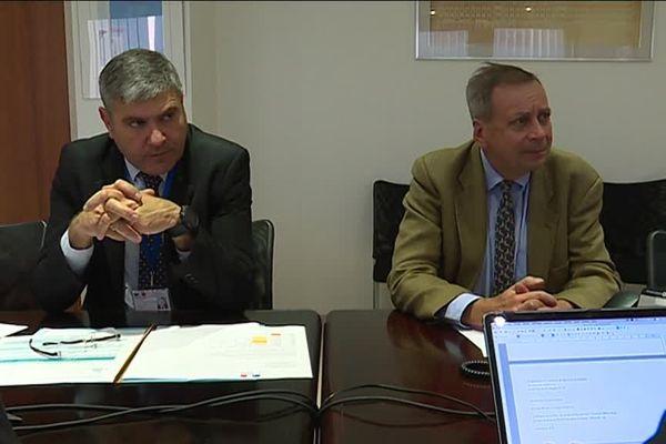 Serge Castel, directeur départemental des territoires et de la mer (DDTM) et Frédéric Mac Kain, secrétaire général de la préfecture.