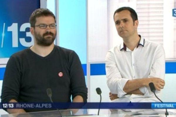 Olivier Jouvray et Jean-Christophe Deveney - invités du 12/13 Rhône-Alpes (12/06/13)